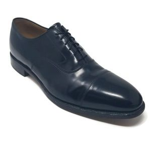Johnston & Murphy Melton Cap Toe Oxford Black 13